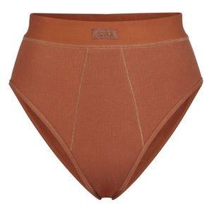 NIB SKIMS Soft Lounge Ribbed Brief Copper Small